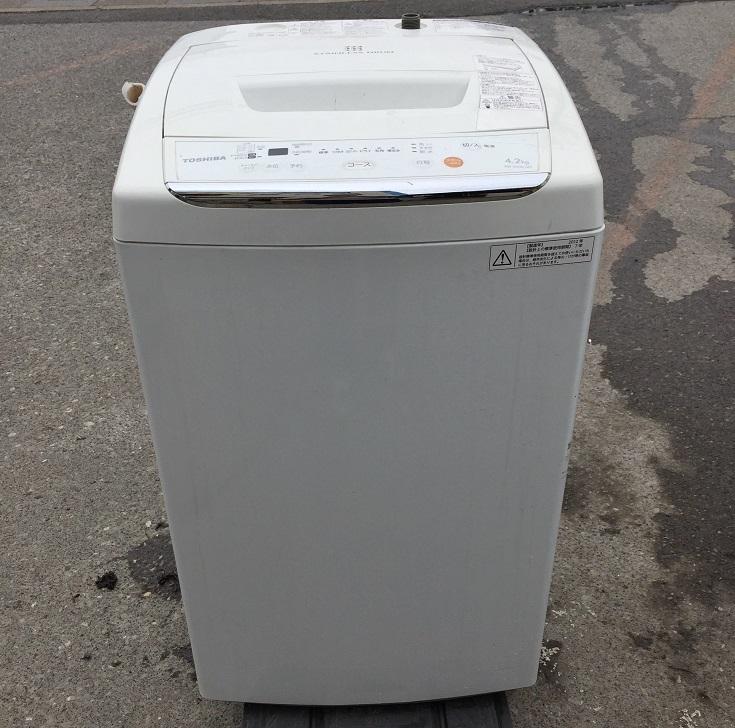 東芝 (TOSHIBA)全自動洗濯機 (4.2kg) ピュアホワイト【AW-42ML-W】