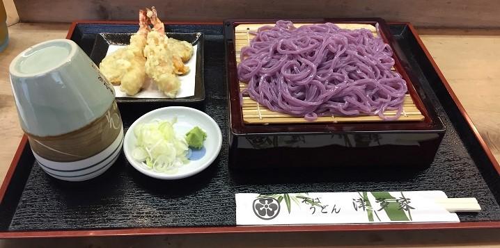 【蕎麦処】『牛島の藤』で有名な春日部市の(むらさき麺)藤うどんを『そば処 津多家(つたや)』で頂きました。