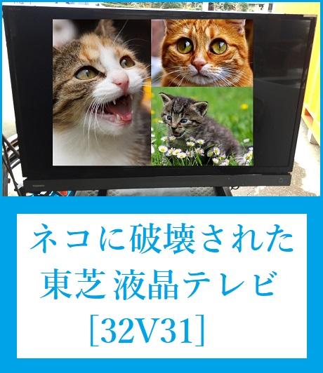 ネコに破壊された、東芝 液晶テレビ [32V31]の分解!